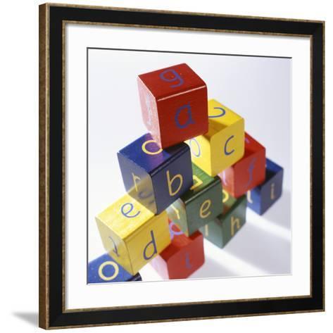Alphabet Toys-Tek Image-Framed Art Print