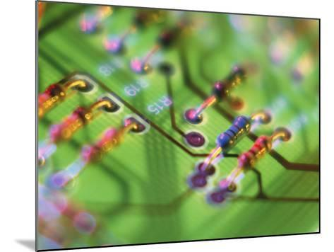 Close-up of An Electronic Circuit Board.-Tek Image-Mounted Photographic Print