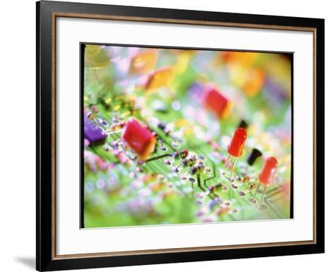 Close-up of An Electronic Circuit Board.-Tek Image-Framed Art Print