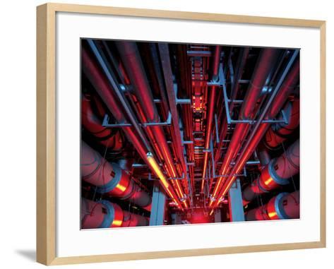 Air Conditioning Pipes-Tek Image-Framed Art Print
