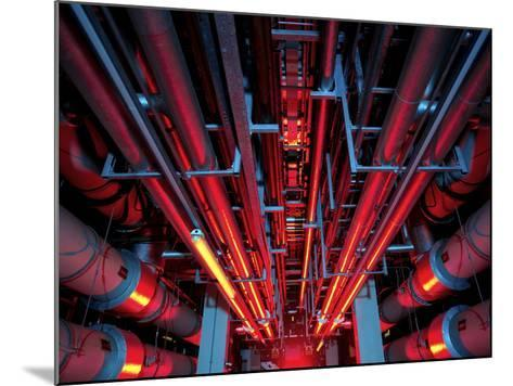 Air Conditioning Pipes-Tek Image-Mounted Photographic Print
