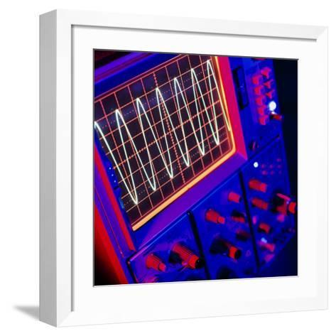 View of Oscilloscope Showing a Voltage-time Trace-Tek Image-Framed Art Print