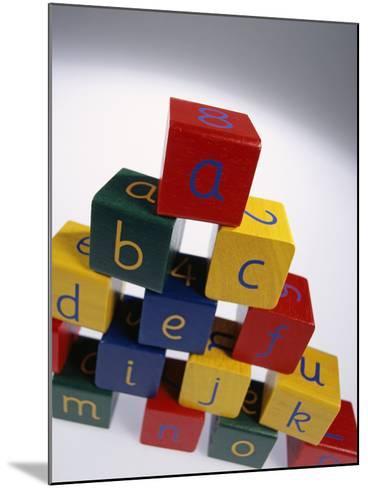 Alphabet Toys-Tek Image-Mounted Photographic Print