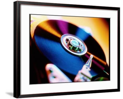 View of a Computer Hard Disk Memory Mechanism-Tek Image-Framed Art Print