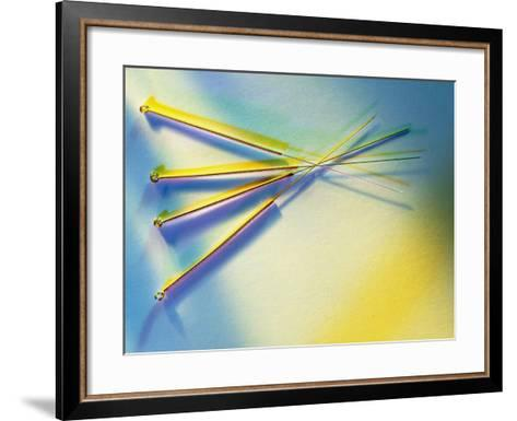 View of Several Acupuncture Needles-Tek Image-Framed Art Print