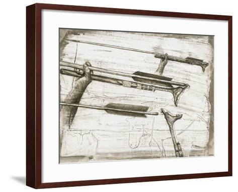 Prehistoric Spear-thrower-Kennis and Kennis-Framed Art Print
