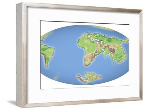 Continental Drift After 100 Million Years-Mikkel Juul-Framed Art Print
