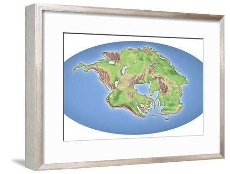Continental Drift After 250 Million Years-Mikkel Juul-Framed Art Print