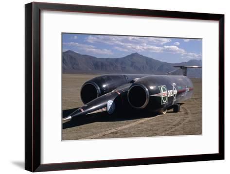 Thrust SSC, the World's First Supersonic Car-Keith Kent-Framed Art Print