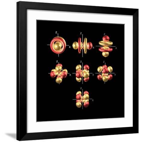 5f Electron Orbitals, Cubic Set-Dr. Mark J.-Framed Art Print