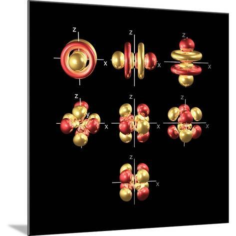 5f Electron Orbitals, Cubic Set-Dr. Mark J.-Mounted Photographic Print