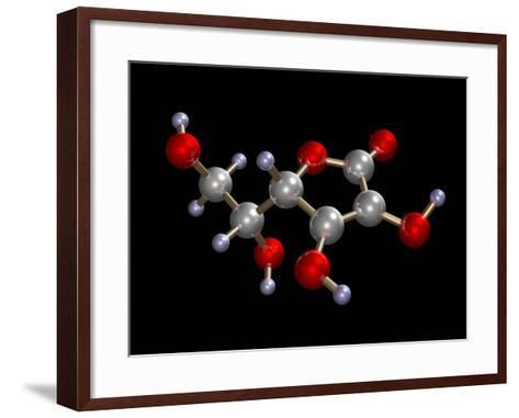 Vitamin C Molecule-Dr. Mark J.-Framed Art Print