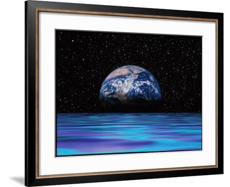 Earthrise-Mehau Kulyk-Framed Art Print