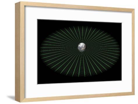 Earth's Gravity Well, Artwork-Mikkel Juul-Framed Art Print
