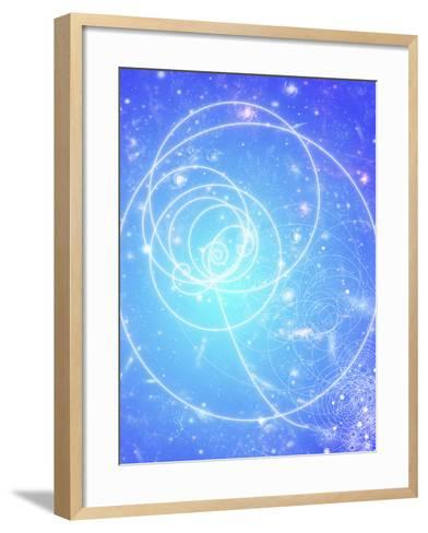 Particle Tracks on Galaxies-Mehau Kulyk-Framed Art Print