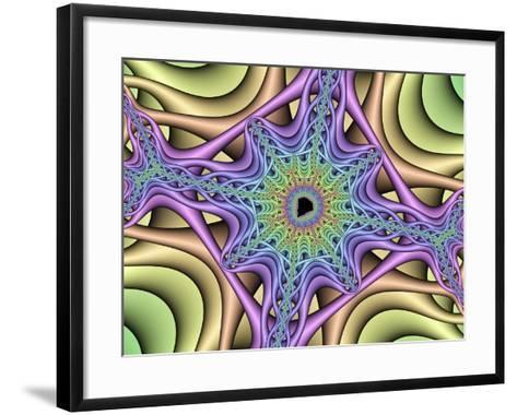 Computer-generated Mandelbrot Fractal-Mehau Kulyk-Framed Art Print