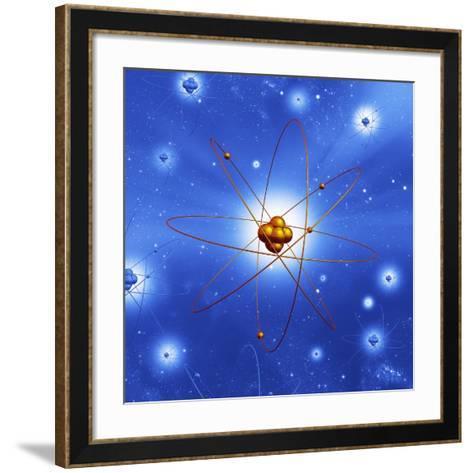 Atomic Structure, Artwork-Mehau Kulyk-Framed Art Print