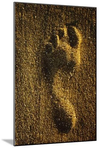 Footprint In Sand-Brad Lewis-Mounted Photographic Print