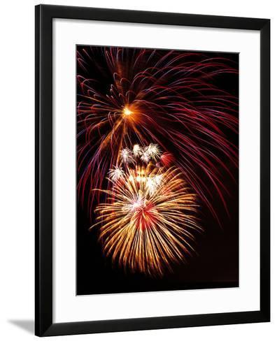 Fireworks Display-Brad Lewis-Framed Art Print