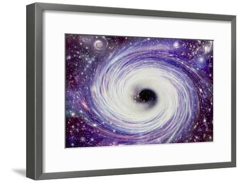 Artwork of a Black Hole-Mehau Kulyk-Framed Art Print