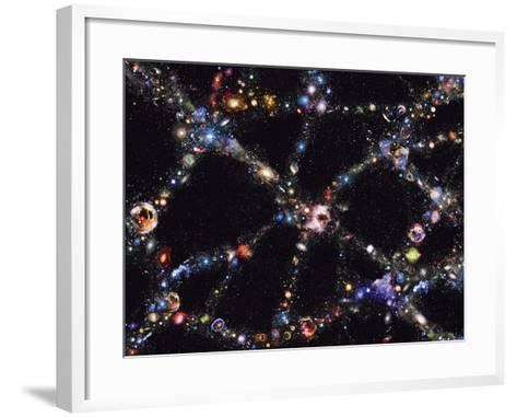 Galaxy Distribution, Computer Artwork-Mehau Kulyk-Framed Art Print