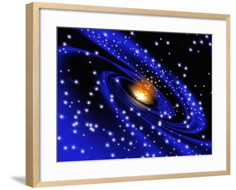 Galaxy Formation, Computer Artwork-Mehau Kulyk-Framed Art Print