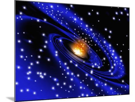 Galaxy Formation, Computer Artwork-Mehau Kulyk-Mounted Photographic Print