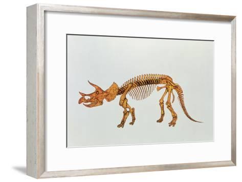 Enhanced Image of a Triceratops Dinosaur Skeleton-Mehau Kulyk-Framed Art Print