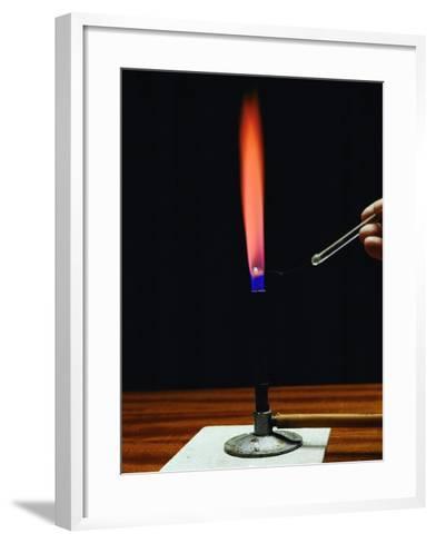 Strontium Flame Test-Andrew Lambert-Framed Art Print
