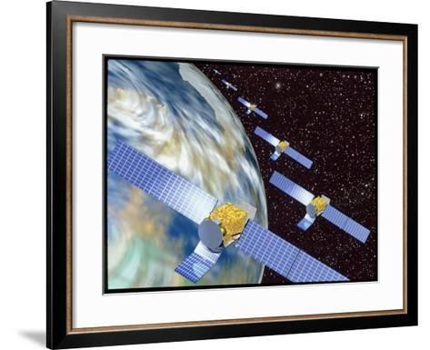 Communication Satellites-Mehau Kulyk-Framed Art Print