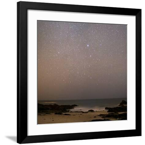 Sirius In Canis Major Over a Beach-Laurent Laveder-Framed Art Print