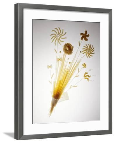 Pasta Arranged In the Shape of a Flower-Veronique Leplat-Framed Art Print