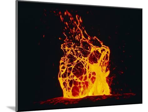 Lava Flow From Kilauea Volcano-Brad Lewis-Mounted Photographic Print