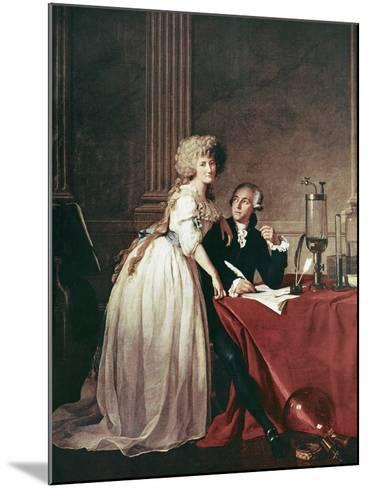 Lavoisier And His Wife, 1788-Science Photo Library-Mounted Photographic Print