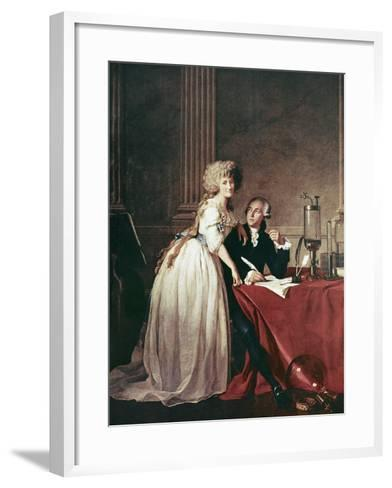 Lavoisier And His Wife, 1788-Science Photo Library-Framed Art Print