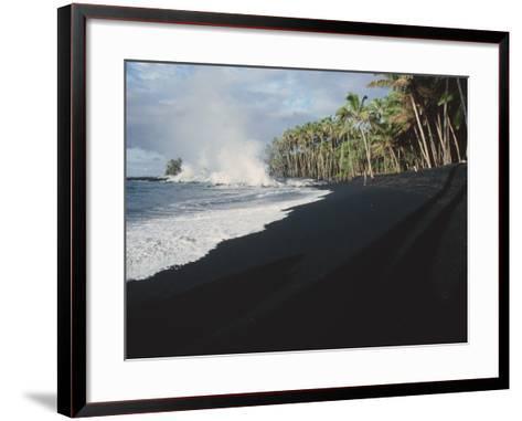 Lava Flow on Kaima Beach, Hawaii-Brad Lewis-Framed Art Print