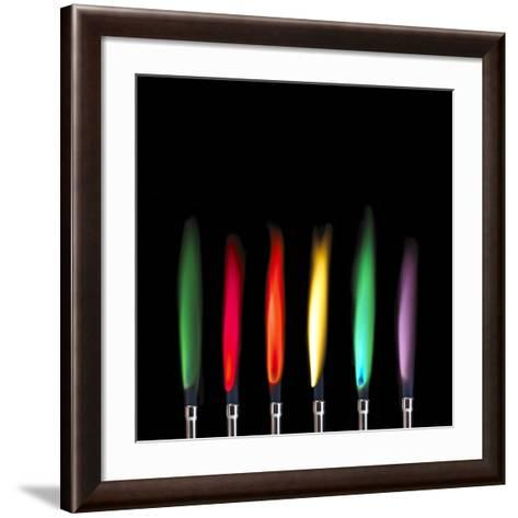 Flame Test Sequence-Science Photo Library-Framed Art Print