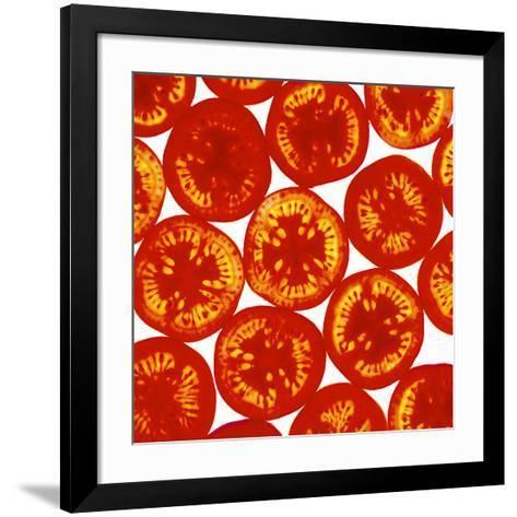 Tomato Slices-Johnny Greig-Framed Art Print