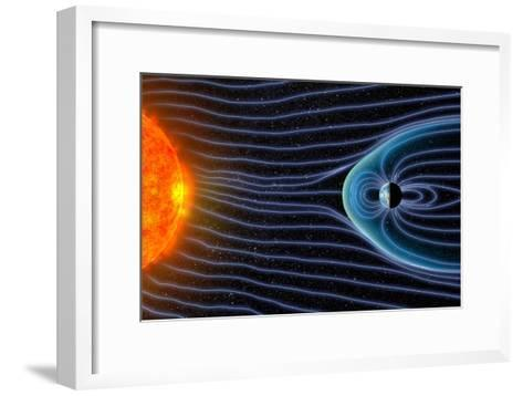 Earth's Magnetosphere, Artwork-Equinox Graphics-Framed Art Print