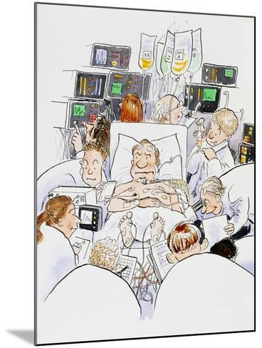 Caricature of An Intensive Care Ward-David Gifford-Mounted Photographic Print