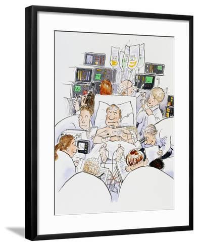 Caricature of An Intensive Care Ward-David Gifford-Framed Art Print