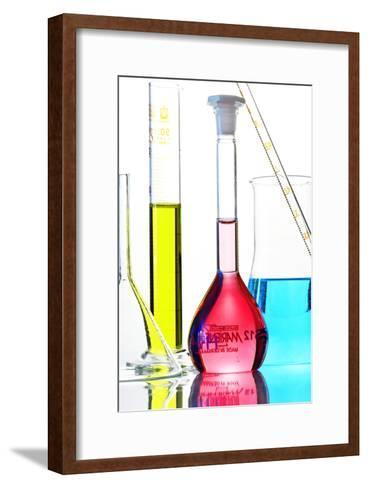 Chemistry Glass-ware-Sigrid Gombert-Framed Art Print