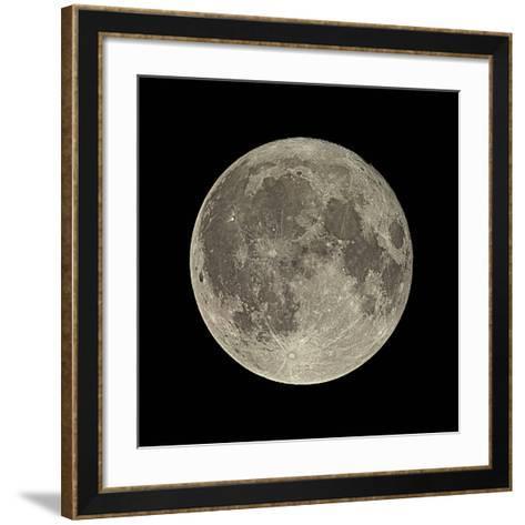 Waning Gibbous Moon-Eckhard Slawik-Framed Art Print
