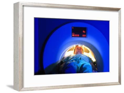 Patient Passes Into a CT Scanner-Volker Steger-Framed Art Print