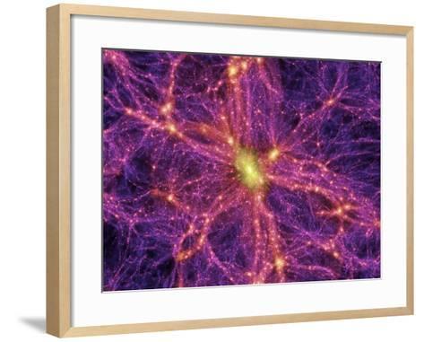 Dark Matter Distribution-Volker Springel-Framed Art Print