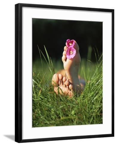 Feet with Flowers-Bjorn Svensson-Framed Art Print