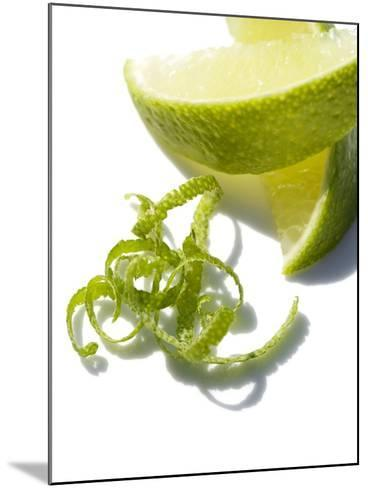 Lime Slices And Peel-Jon Stokes-Mounted Photographic Print