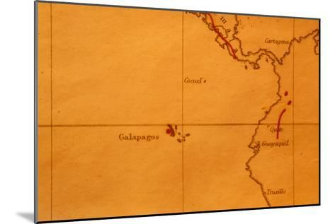 The Galapagos Islands Seen on One of Darwin's Maps-Volker Steger-Mounted Photographic Print