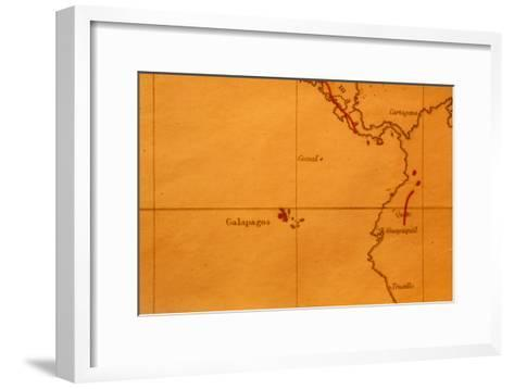 The Galapagos Islands Seen on One of Darwin's Maps-Volker Steger-Framed Art Print