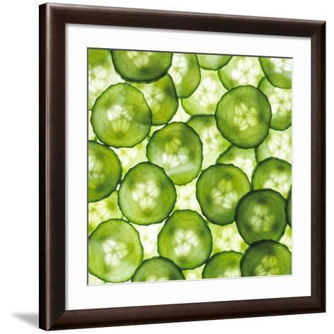 Cucumber Slices-Mark Sykes-Framed Art Print